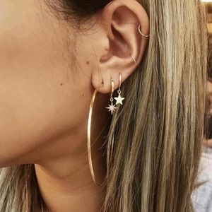 Jewelry - Gold plated 6 pieces Star Earring Set